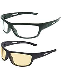 Vast UV Protected Sport Unisex Sunglasses (NT-SYHJ+WHJ|60|Yellow)
