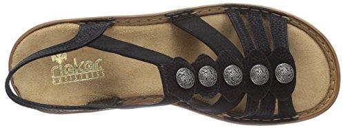 Rieker - 62866, sandali  da donna Nero (Schwarz / 00)