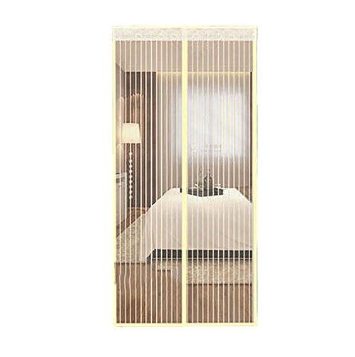 Zanzariera magnetica porta finestra tenda zanzariera magnetica bianca zanzariera porta finestra magnetica maglia magica porta sullo schermo per patio,camera da letto tenere zanzara vola fuori-90x220cm(35x87inch)