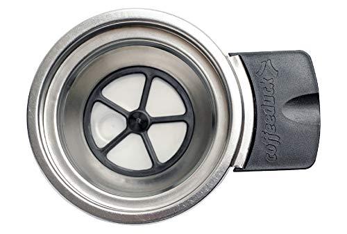 TronicXL Profi Pad Halter zum selbstfüllen wiederbefüllbar Halterung für Philips Senseo Dauerpad Kaffeemaschine HD7850 HD7860 Latte QUADRANTE HD7873 HD7825 Kaffeepadhalter Tee/Kaffee Espresso