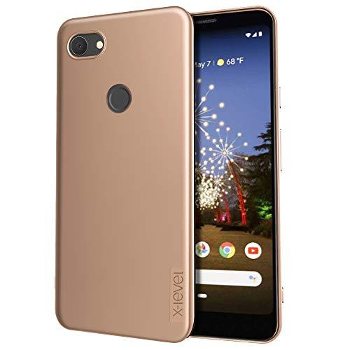 X-level für Google Pixel 3a Hülle, [Guardian Serie] Soft Flex Silikon Premium TPU Echtes Telefongefühl Handyhülle Schutzhülle Kompatibel mit Pixel 3a Case Cover - Gold