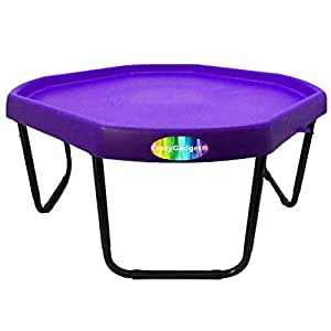 CrazyGadget® Children Kids Tuff Spot with Stand Colour Mixing Tray Large Plastic for Playing Toy Sand Pool Pit Water Game Animal Figures etc. - MADE IN UK (Lilac/Purple)