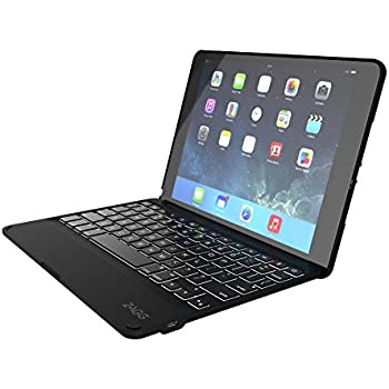 Zagg Folio Case Hinged With Backlit Bluetooth Keyboard For