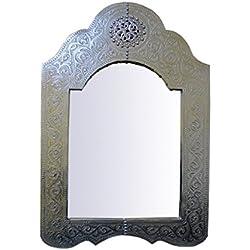 Saharashop Marrakech Accessoires–Espejo Plata Grande 80x 50cm