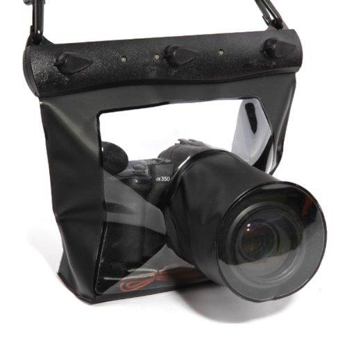 20M Unterwasser Kameratasche Unterwasserkamera Hülle Unterwasser kameragehäuse für DSLR SLR Canon 6D 600D 650D Nikon D7100 D5200 D5100 D3200 (Schwarz, L)
