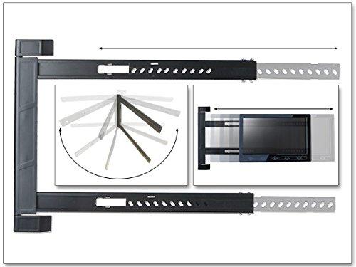Lcd-ecke (DRALL INSTRUMENTS Universal TV Wandhalterung Halterung - für 42-64 Zoll LED LCD OLED Plasma Fernseher - 180° Grad schwenkbar klappbar - für Erker Ecke Camping Wohnwagen - VESA 200 300 400 Modell: S91)