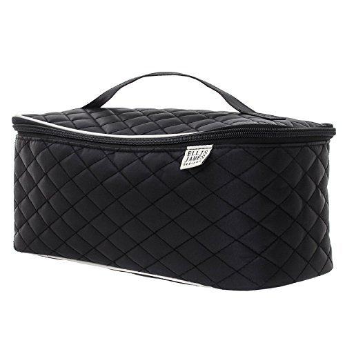 Ellis James Designs Large Travel Cosmetic Case Makeup Bag (Black) by Ellis James Designs (Tote Schmuck Medium Handtasche)