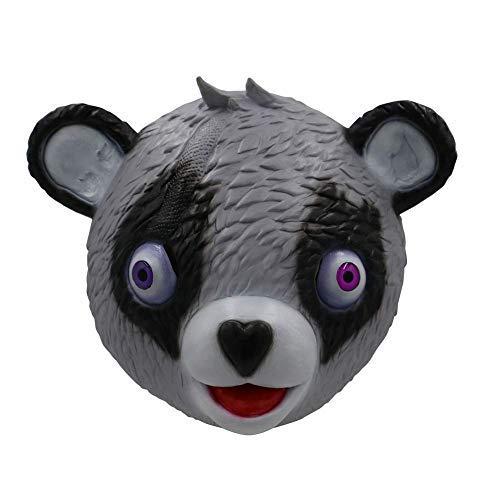 Miminuo Neuheit-Spielzeug-Halloween-Kostüm-Partei-Spiel-Latex-Tier-Volle Hauptmaske-Umarmungs-Team-Führer Bärn-Spiel-Maske (Grey)