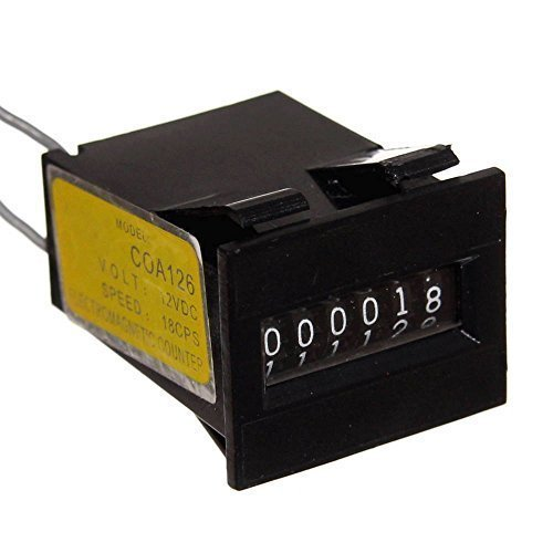 1x 6-stelliger Zähler analog elektro-magnetisch 12V DC Neu Counter Pinball Aufwärtzähler Impulszähler Joy-Button