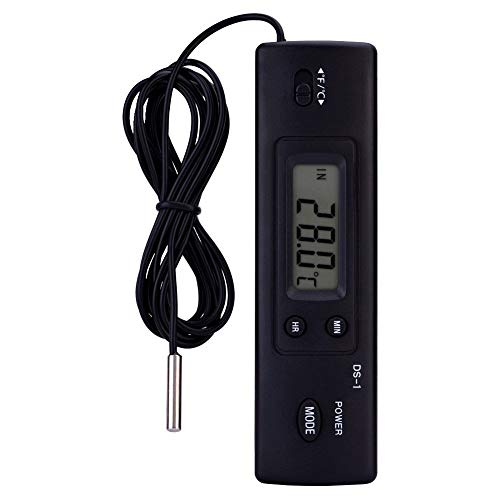 Elektronische LCD Digital Thermometer Temperatur Feuchtigkeitsmesser Sonde Sensor Verdrahtet Für Kühlschrank Klimaanlage Fisch Tank Verwendung -