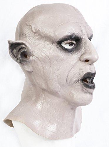 The rubber plantation tm 619219294270nosferatu vampiro maschera di halloween da dracula horror classico costume accessory, unisex, taglia unica