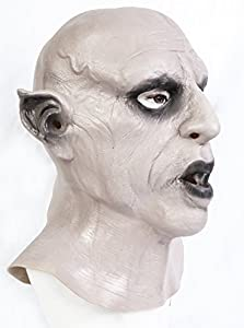 The Rubber Plantation TM 619219294270 Nosferatu Vampire Mask Halloween Fancy Dress Dracula Classic Horror Disfraz Accesorio, Unisex Adulto, Talla Única