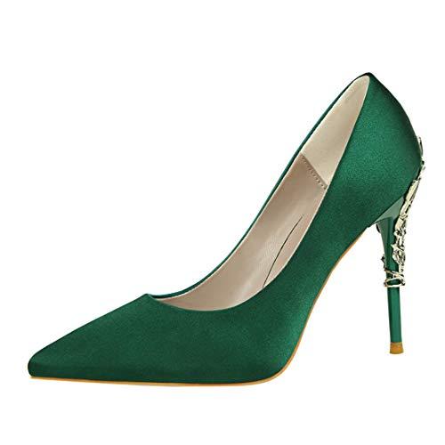 MGM-Joymod - Zapatos Vestir Mujer Punta Metal Finos