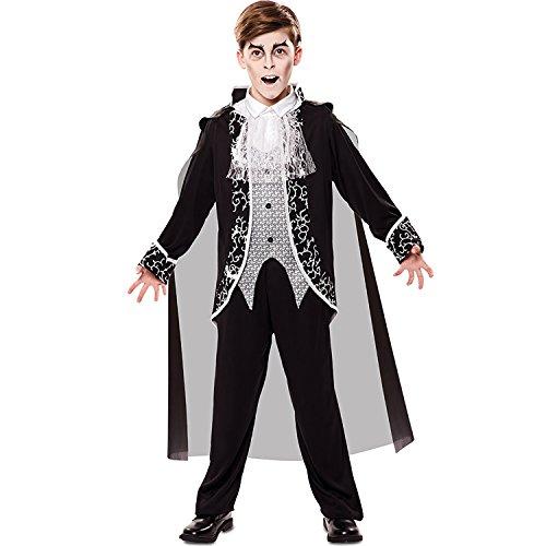 Vampir Jungen Süße Kostüm Für - EUROCARNAVALES Jungen Kostüm Vampir Nathan Kinderkostüm Fledermaus Halloween Gothic Vampirumhang Karneval (7-9 Jahre)