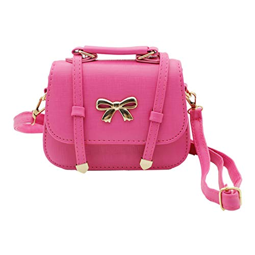 Scheppend Mode kleine M?dchen Handtasche Kinder einzelner Schulterbeutel Doppelzweck Tasche(Rot Fliege) - Handtasche Kind