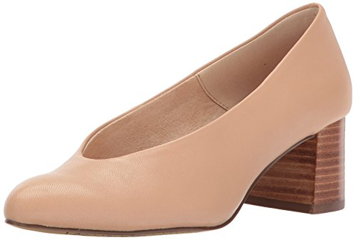 Bella Vita Women's Jensen Dress Pump, Nude Leather, 9 W US -