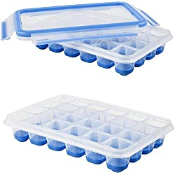 Emsa 514549 Eiswürfelbereiter, mit flexiblen Boden, 22,6 x 16,5 x 4,9 cm (2 Stück)