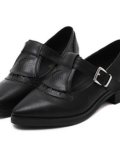 ZQ Scarpe Donna - Stringate - Tempo libero / Casual - A punta - Quadrato - Finta pelle - Nero / Grigio , gray-us8 / eu39 / uk6 / cn39 , gray-us8 / eu39 / uk6 / cn39 black-us7.5 / eu38 / uk5.5 / cn38