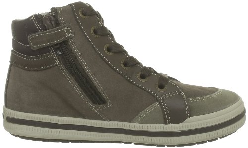 Geox J Elvis K, Sneaker a Collo Alto Bambino Marrone (Kaki/Brown C0953)