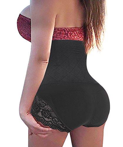 Gotoly Damen invisable strapless körper-former-taille bauch-steuer kolben-heber-panty schlank Schwarz(super Comfy) X-Large / XX-Large -