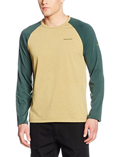 Liebe Long Sleeve Thermal (Craghoppers Herren Ahorn Long Sleeve T-Shirt – Licht Olive Marl/Asteroid grün, groß)