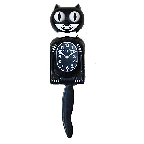 Classic Black Kitty-Cat - Made by Kit-Cat Klock® by Kit-Cat Wanduhr Kit