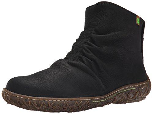 El NaturalistaN755 NIDO - Stivali classici imbottiti a gamba corta Donna , nero (nero (nero)), 38 EU