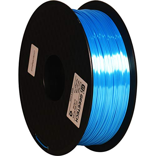 GEEETECH PLA Silk filament 1.75mm, 3D Drucker Filament PLA 1kg Spool (sky blue)
