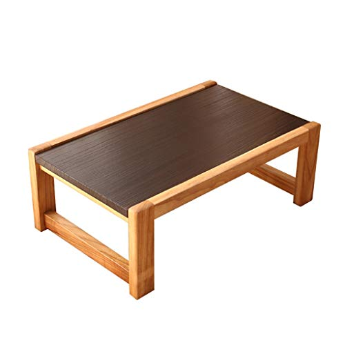 Tables Creative en Bois Massif Tatami Basse Salon Basse Basse en Bois Style Japonais De Fenêtre Simple Basses (Color : Brown, Size : 60 * 40 * 30cm)