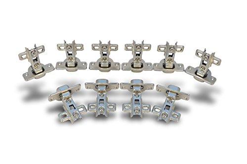 fgv scharniere 10 Stück Topfband Mittelanschlag Topfbänder Scharnier Möbelscharnier + Schrauben