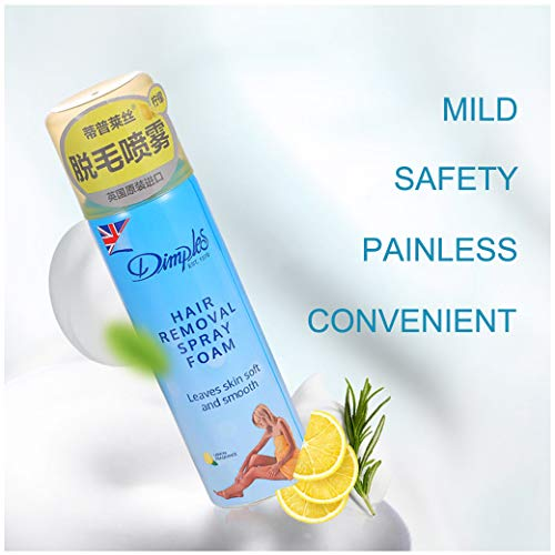 Haarentfernungsspray Enthaarungsmousse Hair Removal Mousse Foam für Bikini, Unterarm, Bein, Schmerzlose Einfache Haarentfernung, Haut Glatt Machen VNEIRW (Zitronenduft)