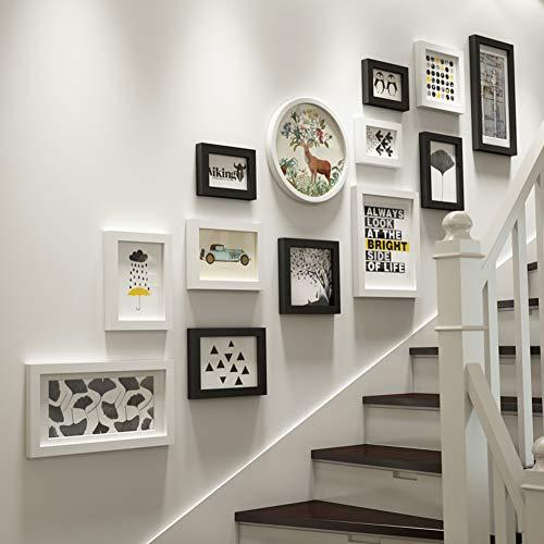 towand,Moderne Kreativ Multi-Foto bilderrahmen Home Office Hintergrundwand 13 stück Packung Foto-Rahmen-Wand-A ()