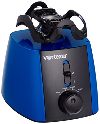 Heathrow Scientific HS120214 Vortex Mixer, UK Stecker, ABS, 1000-3000 upm, 220-240V, 50-60 Hz, 40W, Blau