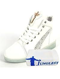 (Present:kleines Handtuch)Weiß 41 EU laufende Herbst Unisex Schuhe USB Leucht bunt JUNGLEST Winter Erwachsene mode Freizeitschuhe Leuchtend Damen Paare Sport