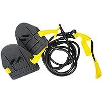 Ueasy Swim corde di resistenza Drag Belt Formazione Corda Di Traino con manici per terreno da allenamento di resistenza Home Gym per donne e adolescenti, Yellow (For Women & Adolescents)