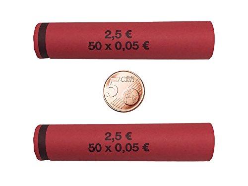 Münzhülsen 5 Cent - 112 Stück