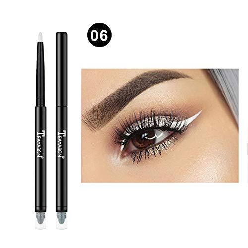 Cosmetic Glitter Ombre À Paupières Doublure Lèvres Eyeliner Crayon Stylo Maquillage 12 Couleurs (F)