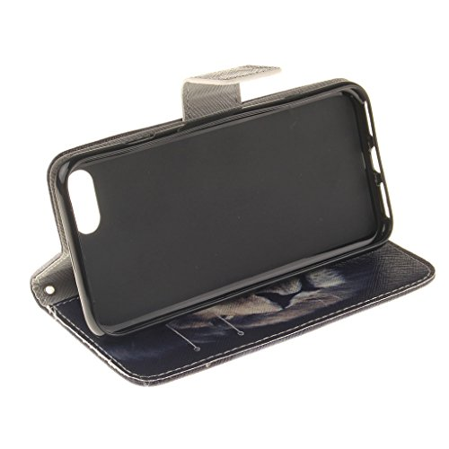 CareyNoce Apple iphone 7 Plus Coque,Flip Housse Etui Cuir PU Coque pour Apple iPhone 7 Plus (5.5 pouces) -- Léopard #1 T03