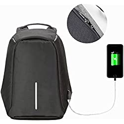 Ozoy Grey Anti Theft Laptop Backpack Bag for Men with USB Charging Point (Black)