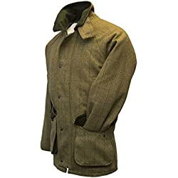 Chaqueta de tweed de Walker and Hawkes, para hombre, para caza, color salvia, trenca, Hombre, color Light Sage, tamaño X-Large