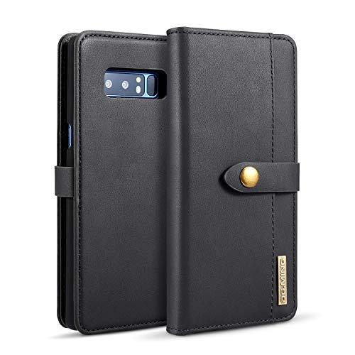 Exquisite Handyhülle aus Leder Pu Leder flip Brieftasche case mit kartenhalter Tasche Telefon Abdeckung für Samsung Note 8 (Color : Black) - Telefon-abdeckung Kartenhalter