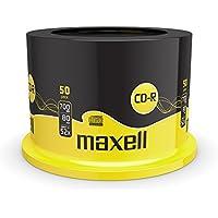 Maxell CD-R80XL confezione da 50 Torre CD vergini 80 min 700 MB velocità 52x