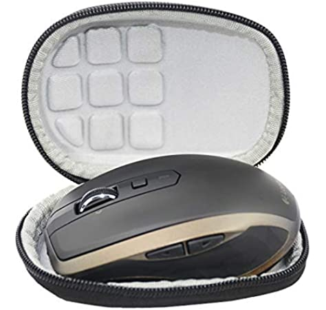 Festnight Computer Wireless Mouse Case Travel Carrying Storage Bag Hard Protective Cover Compatible for Logi-tech MX Anywhere 2S
