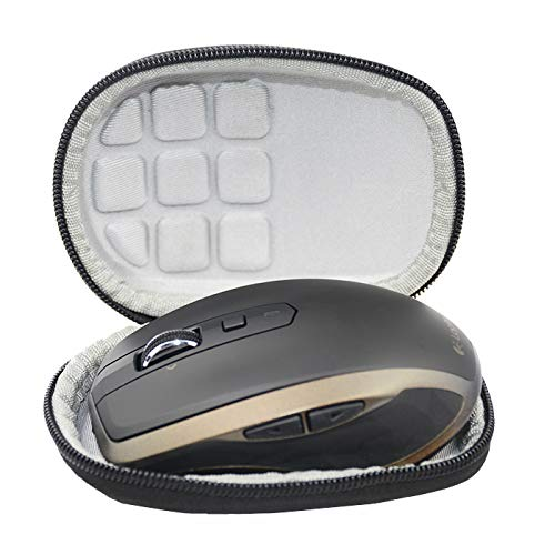 SANVSEN Duro viajes caso cubierta para Logitech MX Anywhere 2S/2/1 Ratón inalámbrico Bluetooth