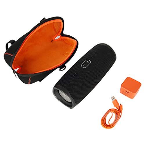 Hunpta@ Box Aufbewahrungsbox für JBL Charge 4 Eva-Reise-Hard Storage Case Cover Schulter Tasche für JBL Charge 4 Lautspreche Bluetooth-Lautsprecher Wasserdicht Tasche Hülle (Schwarz) (Hard Case Storage Box)