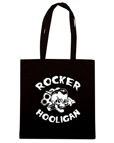 T-Shirtshock - Borsa Shopping TUM0079 ultras rocker hooligan Nero