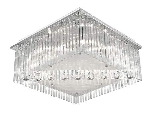 LED Deckenlampe Kristall mit Farbwechsel RGB Wohnzimmerlampe (Schlafzimmerlampe, Deckenleuchte, 50 cm, 3 Stufen Schalter)