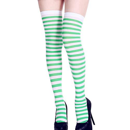 Maleya Halloween Socken Lange Rohr Socken Über das Knie Lustige Kleid Party Requisiten Cosplay Kostüm Geschenk für Frauen Mädchen Druck Lange Schlauch Kniestrümpfe Partei Dress Up - Kostüm Partei Sinn