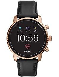 Fossil Q Gen 4 Hr Gold Dial Men's Smart Watch-FTW4017