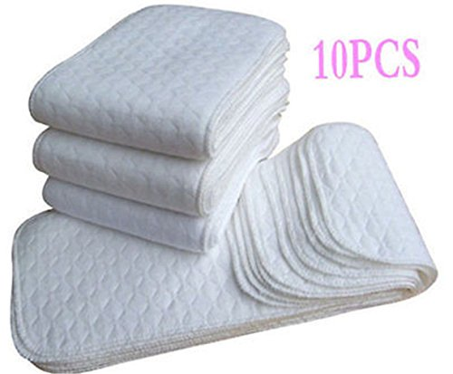 10pcs-3-Layers-Washable-Reusable-Soft-Baby-Cotton-Cloth-Diapers-Nappy-Inserts